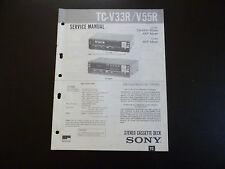 Original Service Manual SONY Stereo Amplifier TA-V 33 R / V 55 R