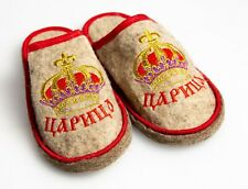 Russian Banya Sauna Slippers Sheep wool Flat QueenThganksgiving day gift for her