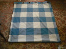 "84 x 97"" Blue & Ivory Cotton Blend Large Plaid Curtain Panel (4 available)"