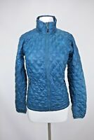 Women's North Face Nano Puff Jacket Size Small Bright Blue Quilted Lightweight