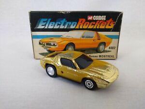 Corgi Electro Rockets 4002 Alfa-Romeo Montreal with Original Box Free Postage