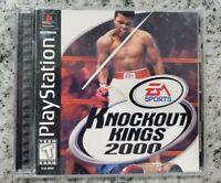 Knockout Kings 2000 (Sony PlayStation 1, 2000) PS1 Black Label CIB FREE  SHIP