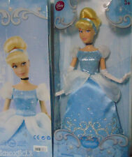 "NEW Disney Store PRINCESS CINDERELLA Classic Barbie DOLL Ice Blue Dress 12"" Pose"