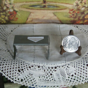 Antique Dollhouse Metal Bench Chair Table Furniture Marx Newlyweds Style 1:24?