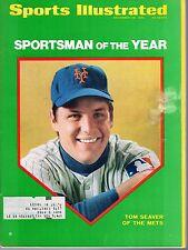 1969 Sports Illustrated, Baseball magazine, Tom Seaver, New York Mets~Fr Smudge