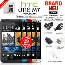 Neu Versiegelt Ohne Simlock HTC One M7 32GB Schwarz Silber Blau Rot Gold Handy