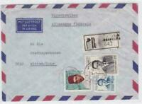 morocco  registered air mail  stamps  cover  ref r16042