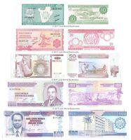 Burundi 10 + 20 + 50 + 100 + 500 Francs Set of 5 Banknotes UNC
