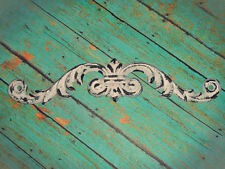 Cast Iron Door Topper Victorian Scroll Distressed White Wall Decor Shabby French
