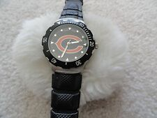 Chicago Bears Football Quartz Men's Watch with a Black Band