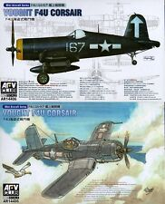 AFV Club 1/144 AR14406 WWII US Navy Vought F4U Corsair (One Set of 2 F4U)