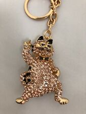 Cute Garfield the Cat Diamante Keyring Rhinestone Bling handbag charm gift  NEW