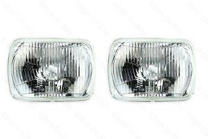 Rectangular Halogen Headlights Headlamps JEEP Wrangler/Cherokee to 1996 HELLA