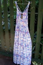 BRAND NEW boohoo Made in UK (Au 12) Ladies HAYLEY DOUBLE STRAP LONG MAXI DRESS