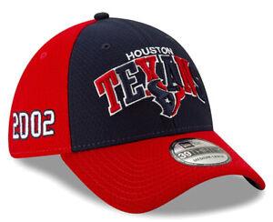 HOUSTON TEXANS EST 2002 NEW ERA HAT 39THIRTY FITTED NFL FOOTBALL ONFIELD CAP