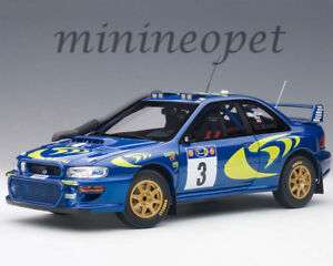 AUTOart 89792 SUBARU IMPREZA WRC 1997 #3 RALLY OF SAFARI 1/18 MODEL CAR BLUE