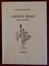 Henry Bauchau - Gengis Khan (Ed. originale - Mermod 1960)