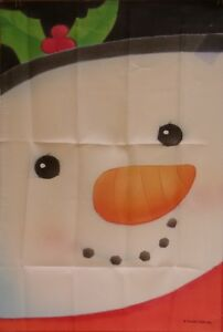 Big Face Snowman Large House Flag by NCE #92136