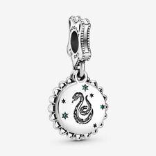 NEW GENUINE  Pandora Charm Bead 798620C01 Harry Potter Slytherin Dangle S925 ALE