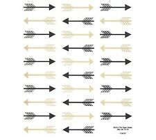 Black And Gold Foil Arrows Planner Stickers Bujo Invitations Envelope Seals