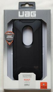 UAG Urban Armor Gear Scout Series Case for Motorola Moto G7 Play - Black NEW!