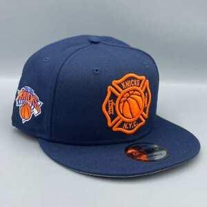 New York Knicks FDNY 9FIFTY New Era Snapback  Blue  Hat Gray Bottom