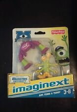 New 2012 Fisher Price Imaginext Disney Pixar Monsters University Art, Terri,.