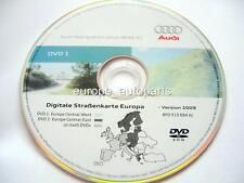 AUDI A3 A4 A6 TT R8 RNS-E NAVIGATION DVD 2009/2010 Europe de l'Ouest