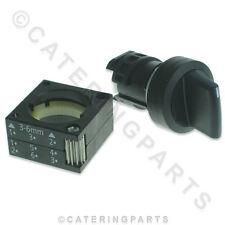 MARENO CR0413380 ROTARY SELECTOR LIFT SWITCH 3 POS 1-0-2 FRYER BRATT PAN 22mm