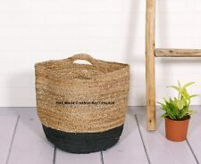 Summer Women Outdoor Beach Jute Braided Woven Casual Handbag Tote Indian Bag