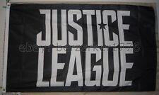Justice League 3'x5' Black Flag Banner DC Comics Aquaman Flash - USA Shipper