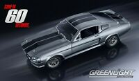 """1967 FORD MUSTANG """"ELEANOR"""" GONE IN 60 SEC 1:18 MODEL CAR BY GREENLIGHT 12909"""