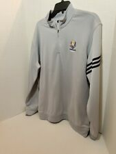 Mens Golf Jacket Adidas XL Long Sleeve Pull Over Climalite Ryder Cup Patch 2014