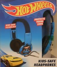 """""""HOT WHEELS""""  New Kid Safe Volume Limiting Headphones With Over The Ear Ages 3+"""