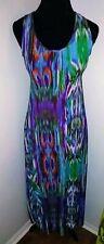 Womens Sundress Size S Maxi racer back Dress Multi color New