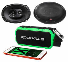 "Pair MTX TERMINATOR693 6x9"" 240 Watt 3-Way Car Audio Speakers+Bluetooth Speaker"