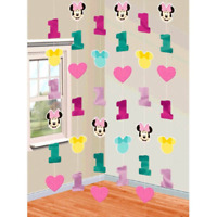Disney Minnie Mouse Fun to be One 1st Birthday Party Foil String Decoration