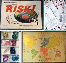 Original Vintage Risk By Waddingtons Old Retro Classic Board Game Complete Boxed