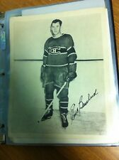 MONTREAL CANADIENS EMILE BOUCHARD 1945-54 QUAKER OATS CANADA BLACK / WHITE PHOTO