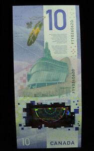 2018 $10 Dollar Bank of Canada RADAR Banknote Viola Desmond FTY 0260620 GEM UNC