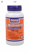 L-Methionine 500mg Now Foods 100 Caps Fast Shipping