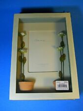 "NEW Photo Picture Frame 4x6"" Accent Flower Pot Shadowbox turqoise wash finish"