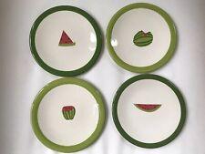 Tag Watermelon Dessert Plates Set Of Four Plates Ceramic Glass