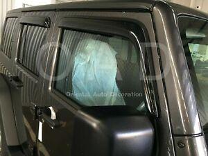 Luxury Weathershields Weather Shields for Jeep Wrangler JL 4 Door 2018+ T