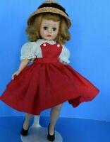 Madame Alexander Bent Knee Cissette Red & White Tagged Dress, Shoes, Hat Undies