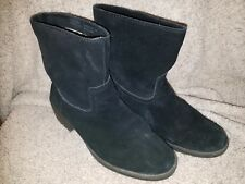 Womens Karen Scott 'Corrie' Black Suede Pull On Ankle Boots size 7 medium width~