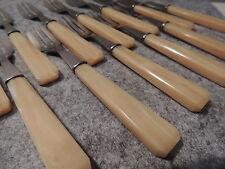 12 fourchettes a gâteaux manche Bakélite ou résine et inox
