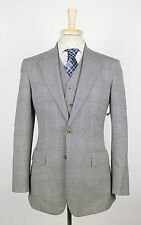 New FREEMANS SPORTING CLUB Martin Greenfield Gray Plaid 3 Piece Suit 40 R $2440