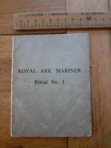 Freemasons Royal Ark Mariner Ritual No. 1 booklet