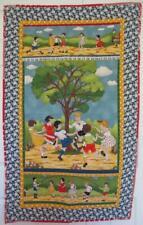 Vintage Retro Fabrics Quilt Quilted Wall Hanging Childhood Children Illustration